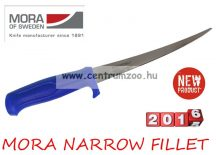 MORA NARROW FILLET KNIFE BLUE kés (MOR11-638) tokkal