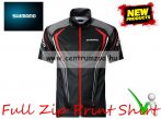 Shimano Full Zip Print Short Sleeve T-Shirt Black - LARGE - póló (SH052PLBK)