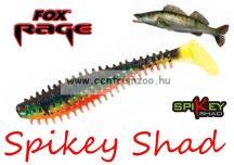 Fox Rage Spikey Shad Hot Tiger 12cm Bulk prémium gumihal  (NSL808)
