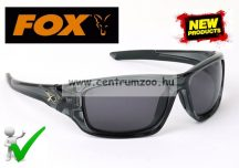 Fox Glasses Casual Polarised Sunglasses Wrap around Black frame - Grey polar napszemüveg (GSN001)