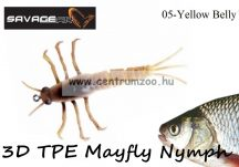Savage Gear 3D TPE Mayfly Nymph 5cm 2.5g -  05-Yellow Belly (50675)