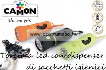 Camon Torcia a led con dispenser di sacchetti igienici - alomzacskó adagoló elemlámpával (B525/B)