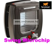 Ferplast Swing Microchip HUZATMENTES CHIPES cica ajtó BARNA