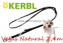 Kerbl Vegas Natural Black kiképző póráz 240cm 22mm (83934)