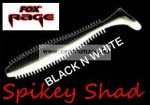 Fox Rage Spikey Shad Black N White 12cm prémium gumihal 1db (NSL531)