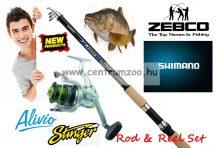 Shimano Alivio & Zebco Stinger 30F Fishing Combo - bot és orsó szett 3,6m 30-60g (ALTE4000360  0340030)
