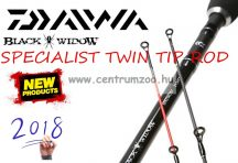 DAIWA BLACK WIDOW SPECIALIST TWIN TIP ROD 12' 360cm 1.75LB  BWS2134TT (198891)