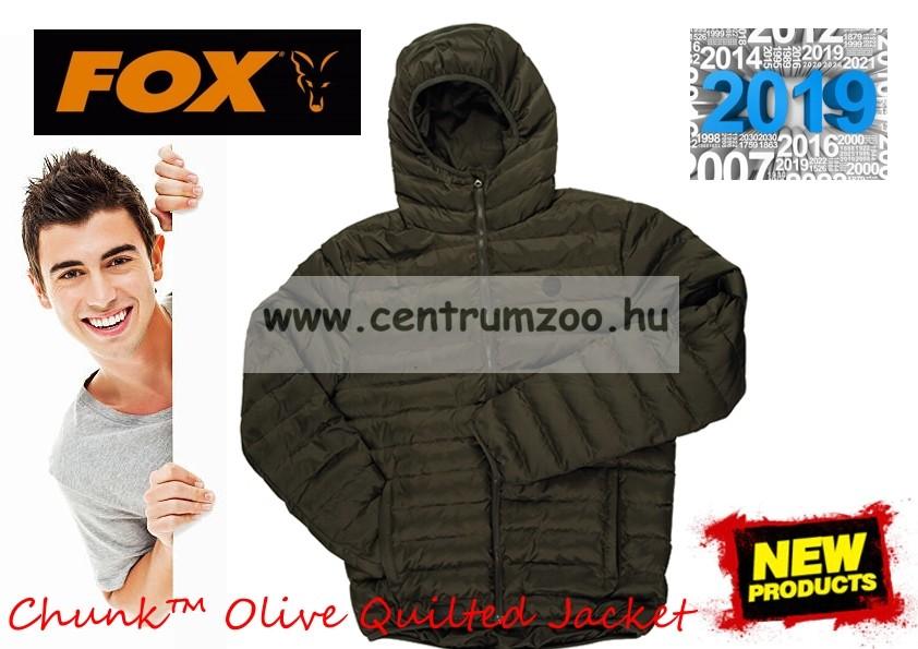 Fox Chunk™ Olive Quilted Jacket dzseki 9d2c08a95b