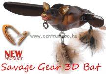 Savage Gear 3D Bat 10cm 28g Brown (58326) denevér formájú műcsali