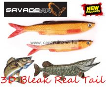 SAVAGE GEAR LB 3D Bleak Real Tail 10.5cm 8g 5pcs 02-Rudd Minnow gumihal (48735) küsz utánzat