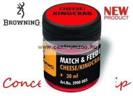 BROWNING Match & Feeder Dip red Cheese/Kingcrab 30ml tömény dip (3900005) - sajt és rák