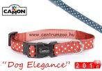 Camon Dog Elegance Blue collar Small 15mm textil nyakörv (DC062/c) kék