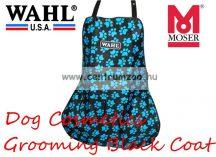 WAHL MOSER Professional Apron black/paw turquoise kutyakozmetikusi kötény (0093-6310)