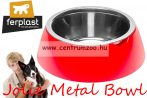 Ferplast Jolie Bowl 1,2l LARGE fém betétes tál (70984022) Red