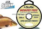 Sufix Memory Free Leader Mono Monofilament Fishing Line 100m 10lb 4,5kg japán pontyos dobóelőke