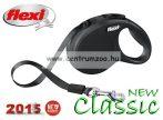 Flexi NEW Classic Tape XS BLACK 3m 12kg új automata szalagos póráz -fekete