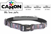 Camon Cubic Multicolor 10mm 23-32cm széles textil nyakörv (DC109/A)