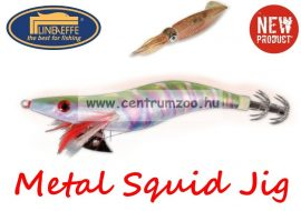 Lineaeffe Super Attractive Metal Squid Jig COLAB-5 tengeri műcsali 7,5cm (5079652) -ZÖLD-PINK CSÍKOS
