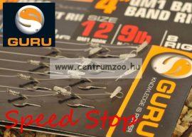 """Guru Speed Stop 4"""" előkötött horog gyors csalitüskével 10-es méret 0,25mm 8db (GRR001)"""