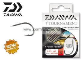Daiwa Tournament X Power Feeder Snelled Hooks előkötött horog - FEEDER (1455) (14455-0 )