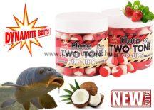 Dynamite Baits Fluro Pop-Up Two Tone Strawberry & Coconut lebegő bojli 20mm (DY594)