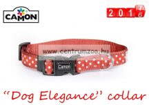 Camon Dog Elegance Red collar Small 10mm textil nyakörv (DC061/A) piros