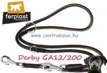 Ferplast Derby GA12/200 Nero bőr póráz & nyakörv erős kivitelben 2m (75383704) FEKETE