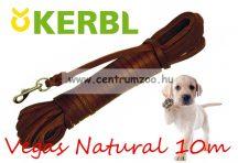 Kerbl Vegas Natural erős bőr futtató póráz 10m (83874)