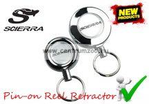 SCIERRA Pin-on Reel Retractor rugós zsinóros szerelék tartó mellényre, táskára (28176)