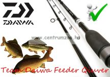 "Daiwa TEAM DAIWA 11FT 6"" MEDIUM QUIVER FEEDER ROD feeder bot 375cm (203011) (TDF116MQ)"
