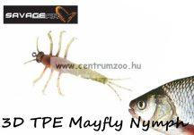 Savage Gear 3D TPE Mayfly Nymph 5cm 2.5g -  02-Olive (50672) olajzöld