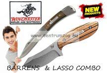 WINCHESTER BARRENS & LASSO tőr és zsebkés fa díszdobozban (003537)