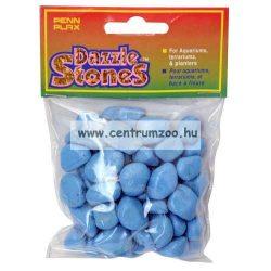Penn Plax Dazzle Stones akvárium dekor aljzat kavics - KÉK 220g (010354)