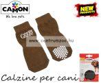 CAMON Marrone Calzine csúszásmentesített kutyazokni több méretben (C770)