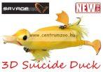 Savage Gear 3D Suicide Duck mű kiskacsa csukára, harcsára 10,5cm 28g (Yellow color)(53731)