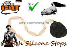 Fox Rage Catfish Silcone Stops Clear masszív szilikon stopper 10db (BAC017)