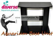 Diversa Cabinet Budget Black 80x35x60cm akvárium ÍVES szekrény, állvány fekete színben