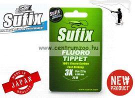 Sufix  FLUORO TIPPET 25M+PVC 0.158MM/4LB/5X CLEAR monofil előke zsinór