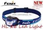 fejlámpa  FENIX HL26R Blue LED AKKU FEJLÁMPA (450 LUMEN) vízálló NEW - KÉK