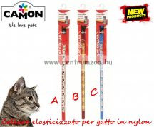 Camon Cat Collare elasticizzato per gatto in nylon nyakörv cicáknak több színben (DG042)