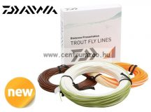 Daiwa Wilderness Premium Fly Lines legyező zsinór WF4F ORAN RUN /IVORY TIP (DTWF4F-OI)
