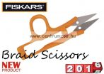 Fiskars Braid Scissors profesional olló fonott zsinórhoz is (859495)