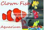 Akváriumi dekoráció - ClownFish - szilikon bohóchal - PIROS (OM-5006 )