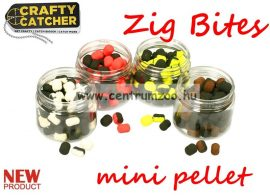 Crafty Catcher Zig Bites pellet  - 8 mm  20 g - Raspberry & Black Pepper- málna és bors