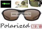 Korda Sunglasses Wraps Gloss Black - Brown Lens Polarized napszemüveg (K4D01)