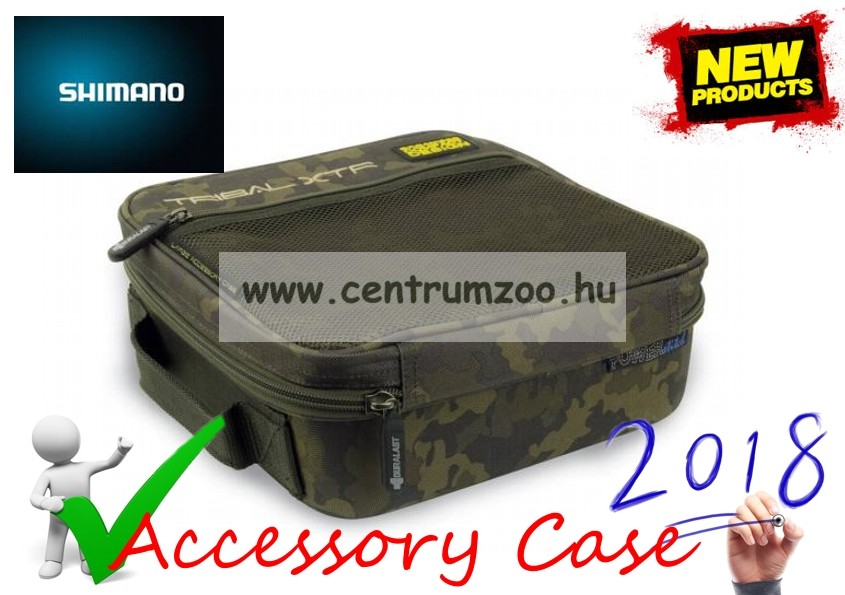 Shimano Tribal XTR Luggage Carp Fishing Large Accessory Case 1 1 szerelékes  táska (SHTRXTR15) 18773299fb