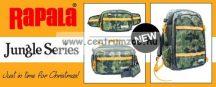 Rapala Jungle 3Pack prémium horgász táskacsomag övtáska+válltáska+hátizsák (RJUHP+RUJMB+RUJBP)
