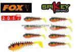 Fox Rage Micro Spikey Shad Fire Tiger 4cm Micro prémium gumihal 8db (NSL840)