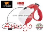 Ferplast AMIGO CORD MEDIUM 25kg 5m automata póráz RED WHITE