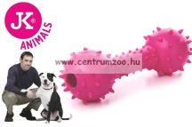 JK Animals tüskés súlyzó játék kutyáknak 14cm  (45943)  PINK